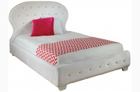 Marilyn White Youth Upholstered Bed