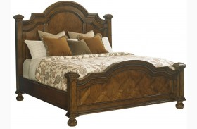 Coventry Hills Autumn Brown Roxbury Panel Bed