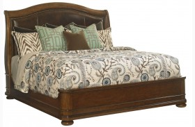 Coventry Hills Autumn Brown Chandler Mills Sleigh Bed