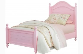 Camellia Bubble Gum Pink Youth Poster Bed