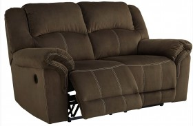Quinnlyn Coffee Finish Reclining Loveseat
