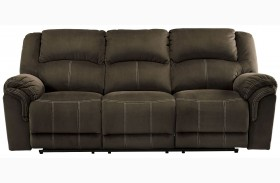 Quinnlyn Coffee Finish Reclining Sofa