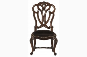 Costa Del Sol Dark Woodtone Messalinas Side Chair