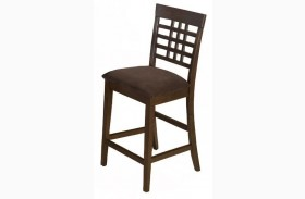 Caleb Brown Finish Weave Back Counter Height Stool Set of 2