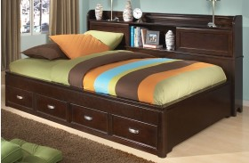 Park City Merlot Youth Bookcase Storage Lounge Bed