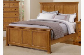 Forsyth Medium Oak Panel Bed