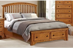 Forsyth Medium Oak Arched Storage Bed
