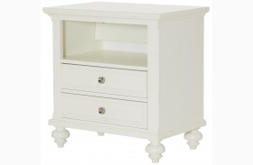 Lynn Haven Soft Dover White Finish Drawer Nightstand