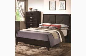 Andreas Cappuccino Padded Platform Bed