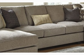 Pantomine Driftwood Finish Armless Sofa