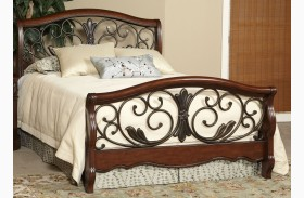 Belle Meade Courtyard Cherry Finish Panel Bed