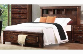 Noble Rustic Oak Captain Panel Storage Bed