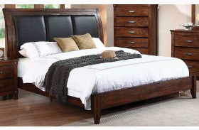 Noble Rustic Oak Platform Bed