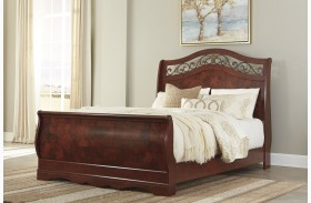 Delianna Brown Sleigh Bed