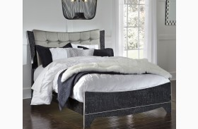 Amrothi Black Panel Bed