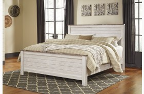 Willowton whitewash panel bedroom set b267 53 52 83 ashley - Ashley wilkes bedroom collection ...