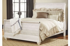 Willowton Whitewash Sleigh Bed
