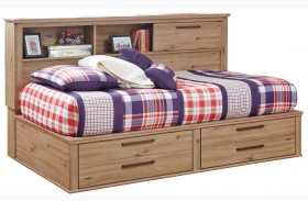 Dexifield Youth Bookcase Storage Bed