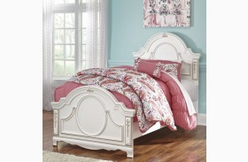 Korabella White Youth Panel Bed