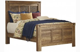 Ladimier Golden Brown Mansion Bed