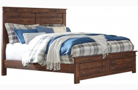Hammerstead Brown Platform Storage Bed