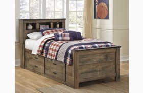 Trinell Brown Youth Bookcase Bed
