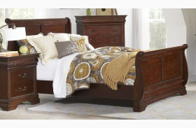 Chateau Vintage Cherry Finish Sleigh Bed
