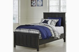 Jaysom Black Youth Panel Bed