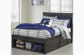 Jaysom Black Youth Panel Storage Bed