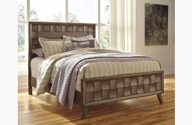 Debeaux Medium Brown Panel Bed