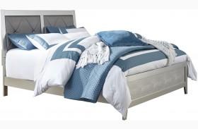 Olivet Silver Upholstered Panel Bed