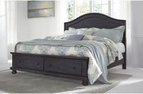 Sharlowe Charcoal Storage Panel Bed
