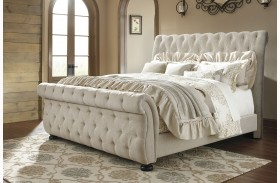 Willenburg Linen Upholstered Sleigh Bed
