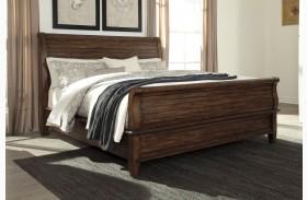 Chaddinfield Brown Sleigh Bed