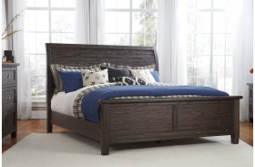 Trudell Dark Brown Panel Bed