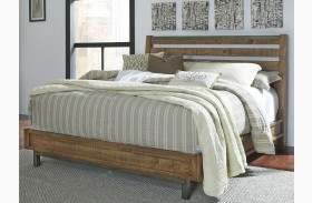Dondie Warm Brown Platform Bed