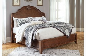 Balinder Medium Brown Panel Bed