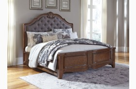 Balinder Medium Brown Sleigh Bed