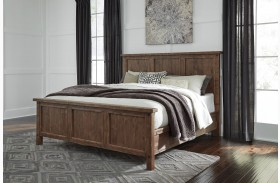Tamilo Grayish Brown Panel Bed