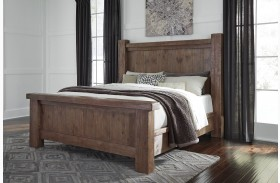 Tamilo Grayish Brown Poster Bed