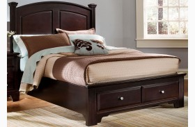 Hamilton/Franklin Merlot Panel Storage Bed