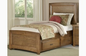 Transitions Dark Oak Youth One Side Storage Panel Bed