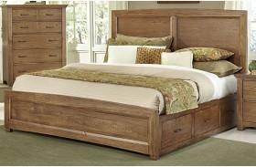 Transitions Dark Oak One Side Storage Panel Bed