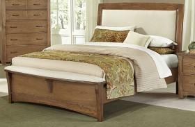 Transitions Dark Oak Upholstered Panel Bed