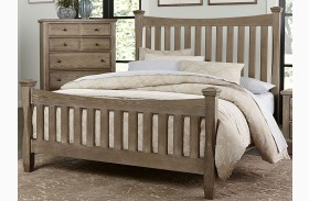Bedford Washed Oak Poster Bed