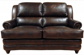 Bentley Italian Leather Loveseat