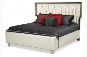 Beverly Boulevard Pearl Upholstered Bed