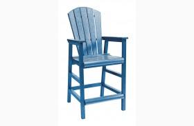 Generations Blue Dining Pub Arm Chair