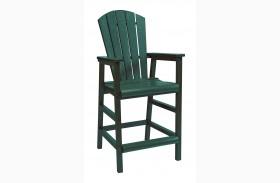 Generations Green Dining Pub Arm Chair