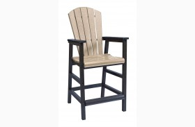 Generations Beige/Black Dining Pub Arm Chair